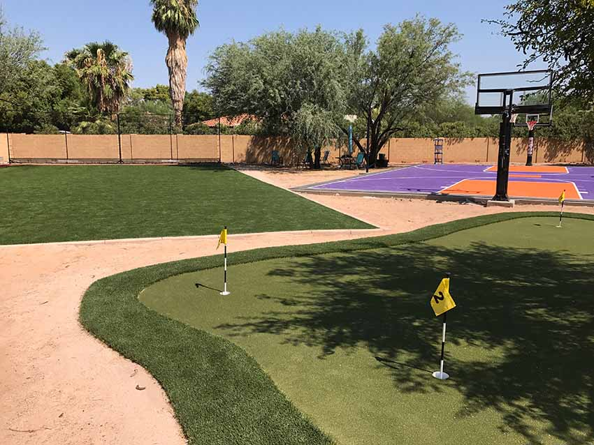 Paradise Valley AZ Back Yard Golf Putting Green